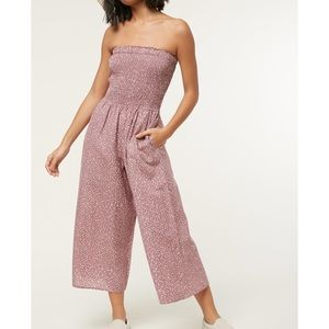 Oneill Alicia Tube Jumpsuit Crop Wide Leg SM LQ134
